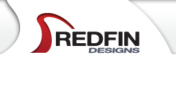 redfin designs logo for graphic and web design website in Pacific Beach, California.